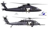 Stealth Black Hawk down: revised sketch