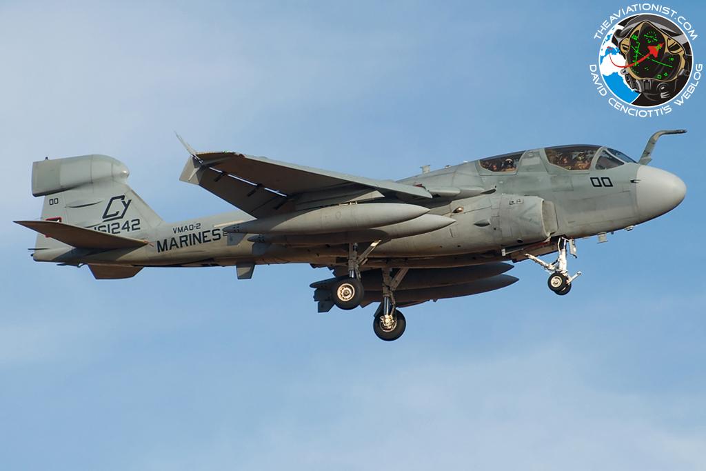 The Aviationist » U.S. Marine Corps EA-6B Prowlers on the ...