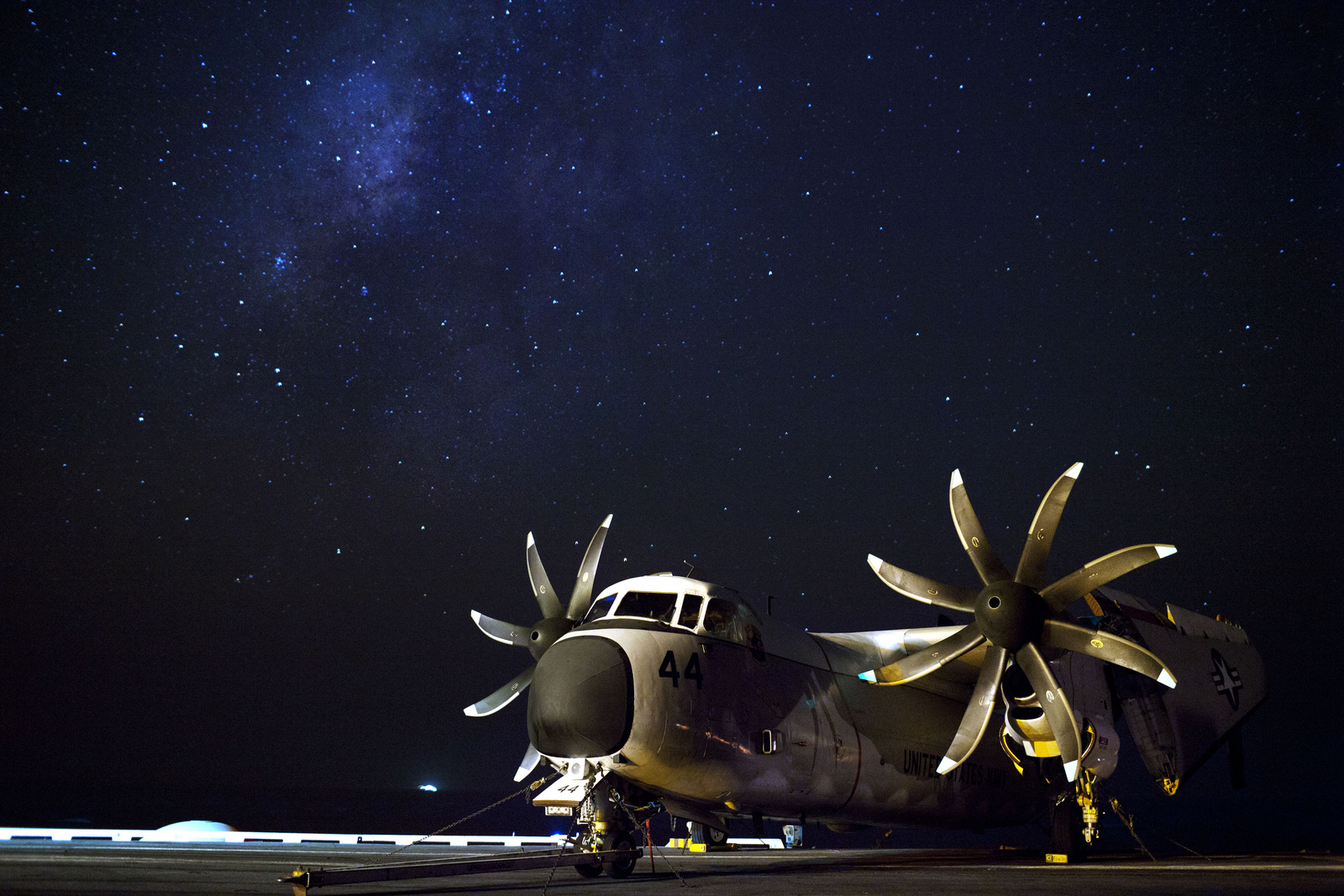 One Of The Most Awesome Pictures Ever Taken On Board USS Enterprise Starry Night Over Gulf Aden