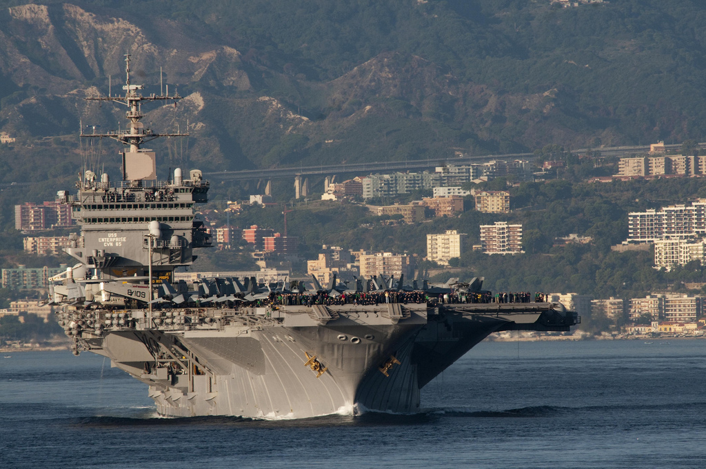 Uss Enterprise Makes Final Foreign Port Visit At Naples